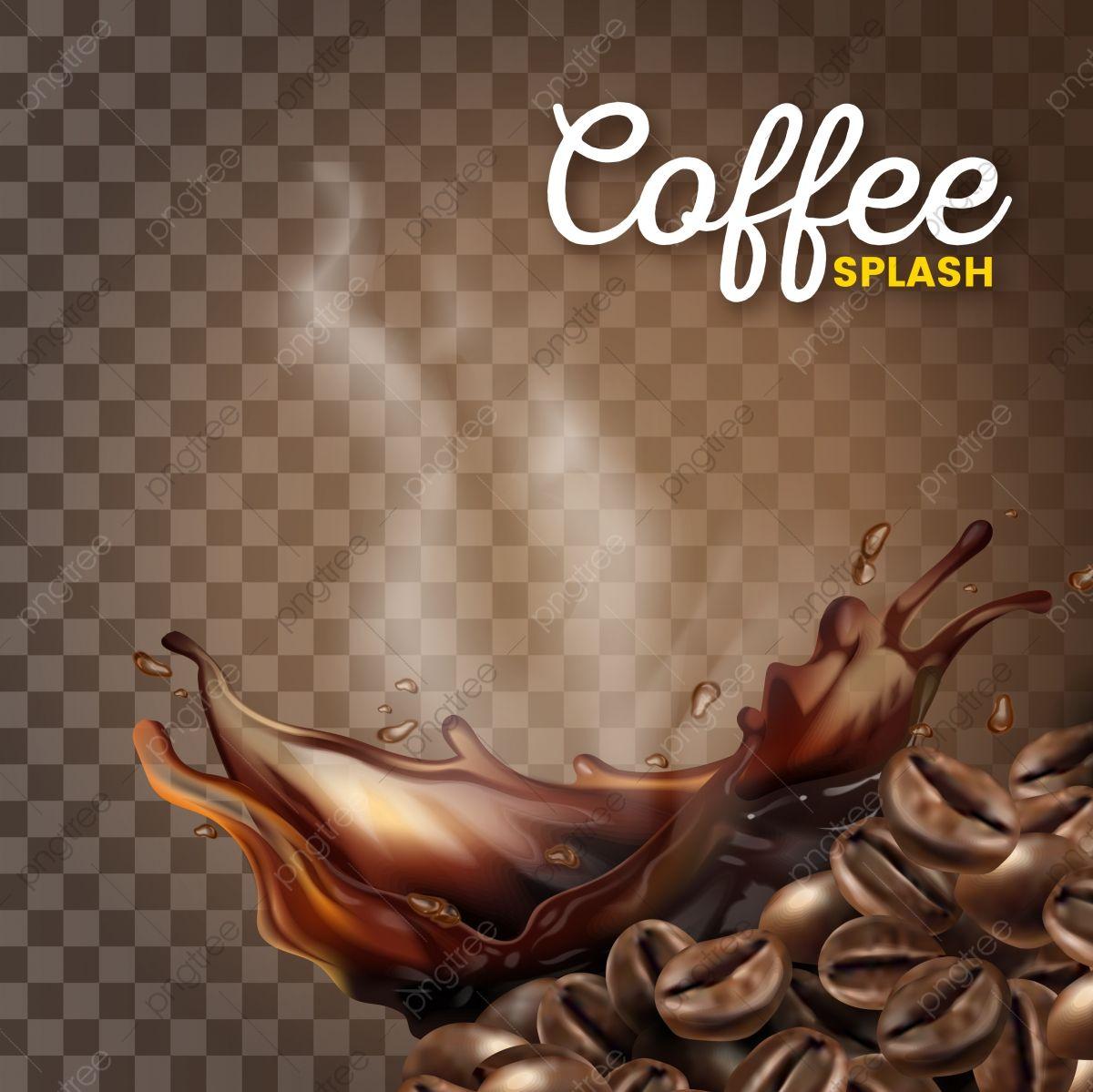 دفقة القهوة الحديثة الجميلة مع حبوب البن ممتلئ العلامة التجارية تفاصيل عالية Png والمتجهات للتحميل مجانا Coffee Beans Coffee Advertising Coffee Logo