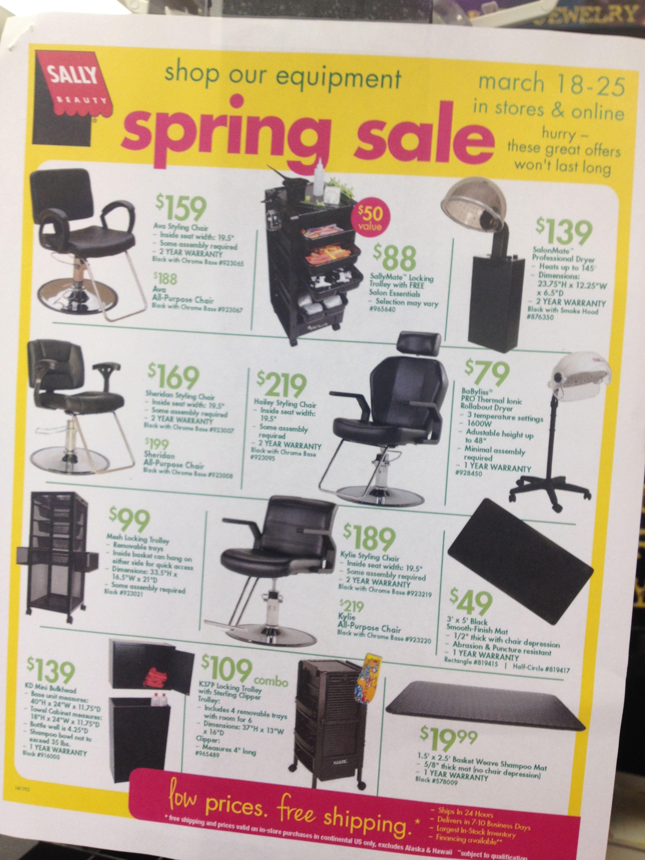Salon Equipment on sale now at Sally Beauty Supply I Ugh I wish I