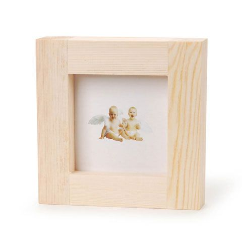 Frame - Wood - 4.9 x 4.9 x .5 inches. Photo opening measures 3 x 3 ...