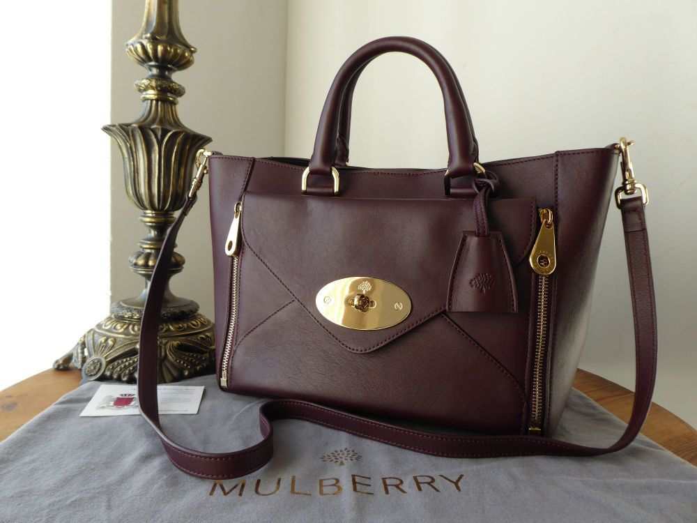 de73d3f29f8 Mulberry Small Willow Tote in Oxblood Silky Classic Calf   https   www.