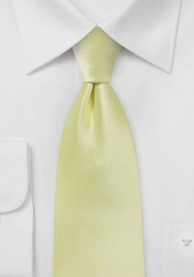 Auffallende Krawatte hellgelb Poly-Faser