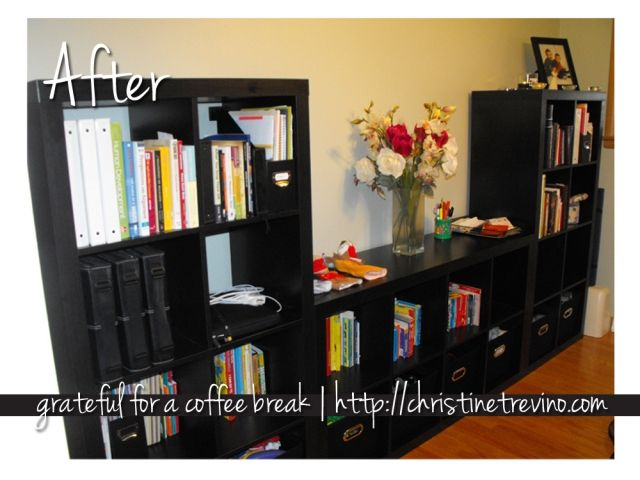 Living Room Organization With Expedit Bookshelves From IKEA