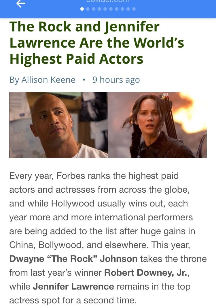 Dwayne (The Rock) Johnson named worlds highest-paid actor