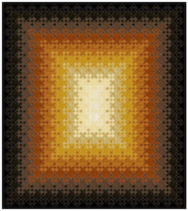 Blooming Nine Patch Quilt Fascinating play of light ...