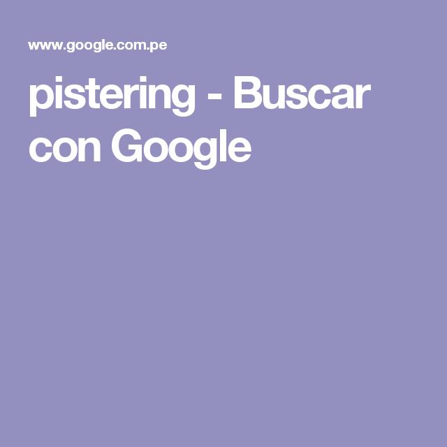 pistering - Buscar con Google