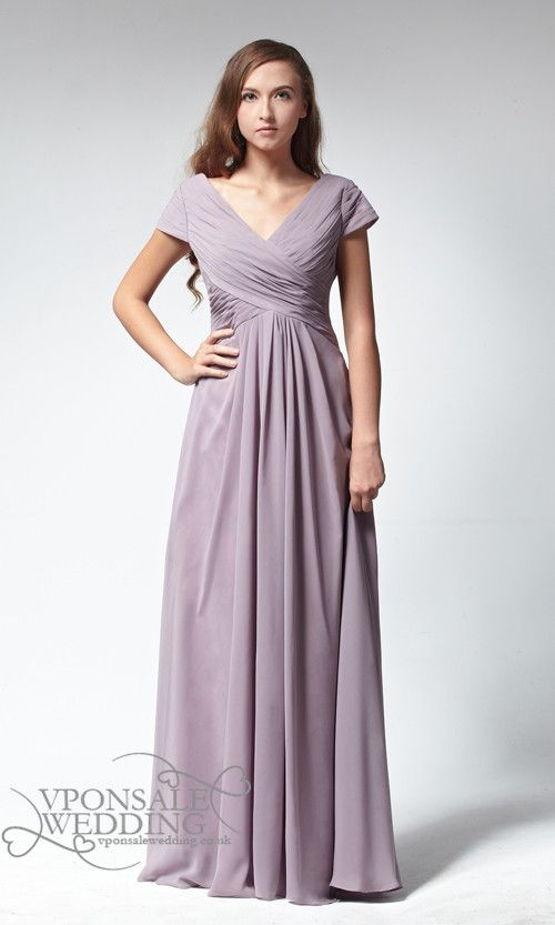 Long Sleeveless V Neck Ced Bridesmaid Dress Dvw0090 Vpon Wedding Custom Dresses