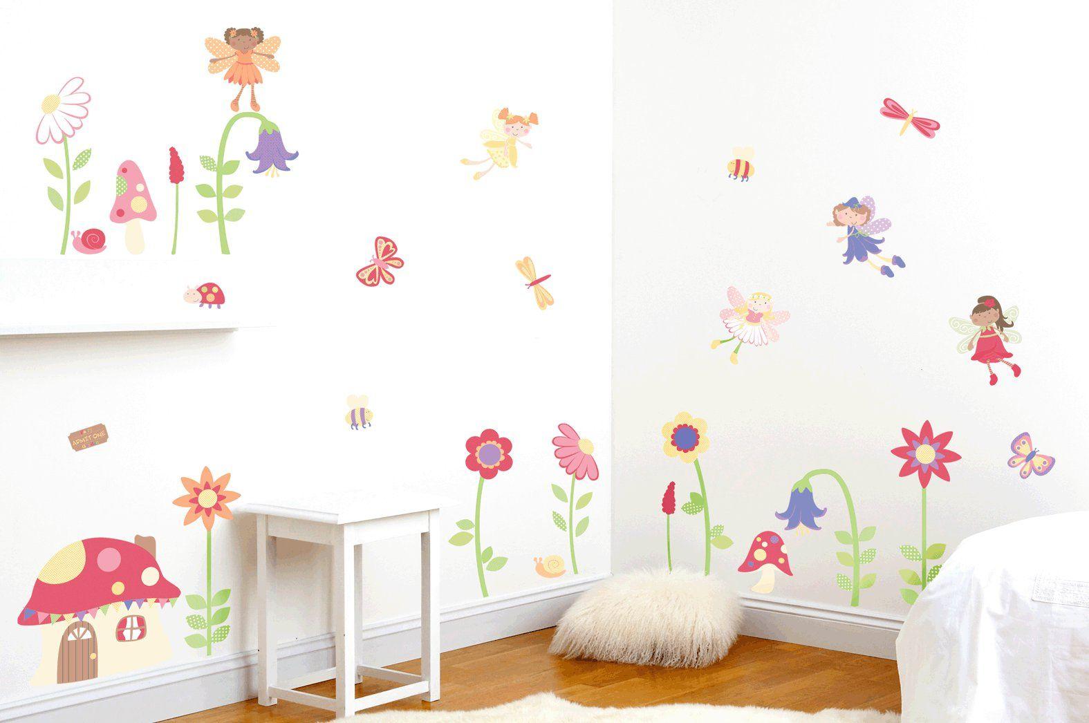 Excellent Enchanted Fairy Garden Girls Bedroom Wall Decor Kit Emma Download Free Architecture Designs Oxytwazosbritishbridgeorg