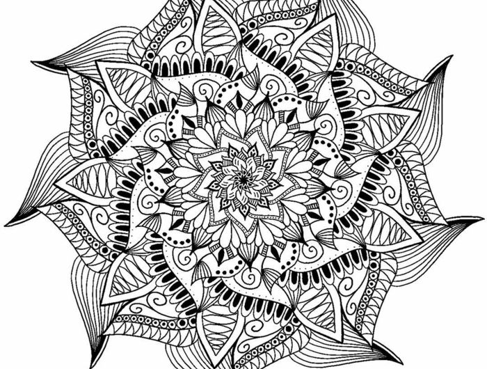 1001 id es et techniques pour faire un mandala coloriage de mandala papier blanc et coloriage de. Black Bedroom Furniture Sets. Home Design Ideas