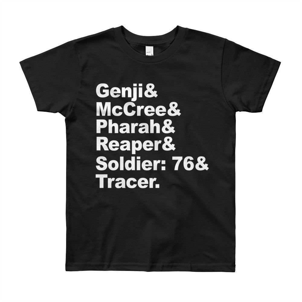 Overwatch Offense Players Names - YOUTH Short Sleeve T-Shirt