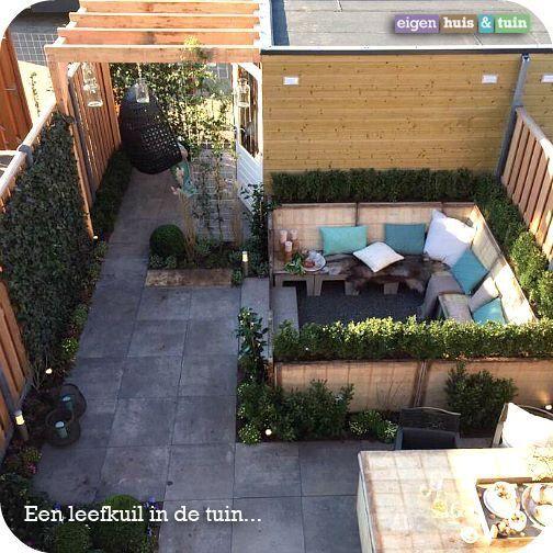 Eigen huis tuin zitkuil in de tuin tuin pinterest for Huis in de tuin