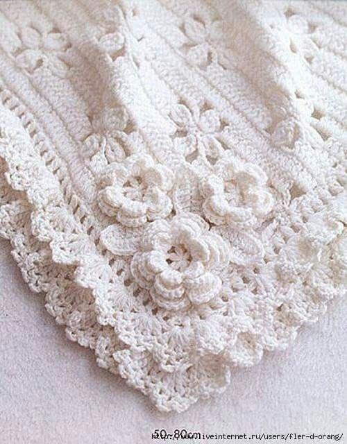 Crochet baby blanket. Chart pattern here: http://refankosmetika.ru ...