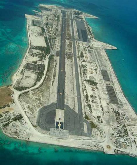 Abandoned Airstrip On A Remote Atoll. I Wonder What It