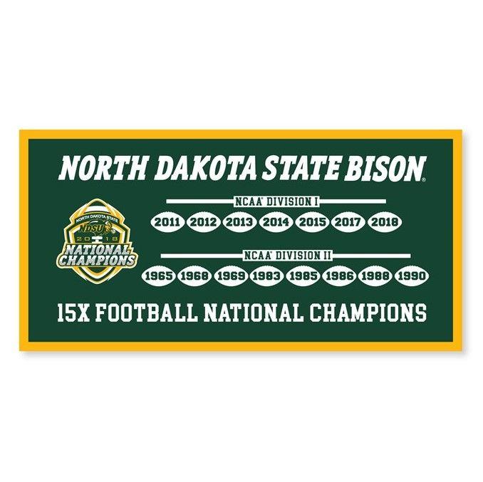 2019 FCS Playoffs (north dakota state championship banner)