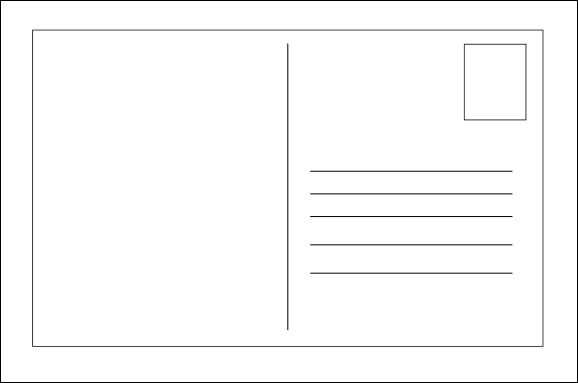 Lovely Blank Postcard Template More Ideas Postcard Format Template