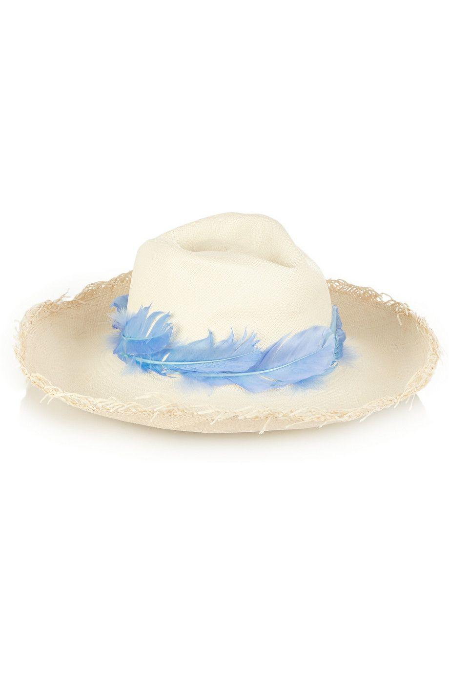 Toquilla Straw Panama Hat - Blue Sensi Studio uRHTMZN