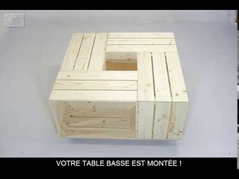 fabriquer une table basse avec des caisses de vin caisses de vin caisse et table basse. Black Bedroom Furniture Sets. Home Design Ideas