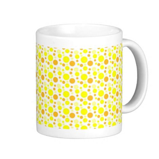 Bubbles in Yellow Coffee Cups