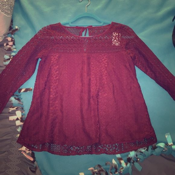 Open knit shoulder Open knit shoulder top Hollister Tops