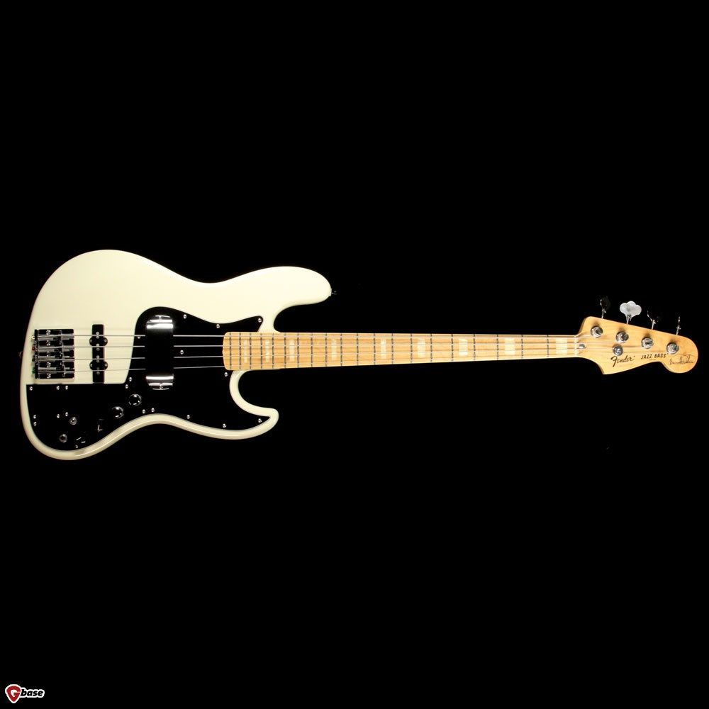 Fender Marcus Miller Signature Jazz Bass Olympic White Guitars Bass The Music Zoo With Images Guitar
