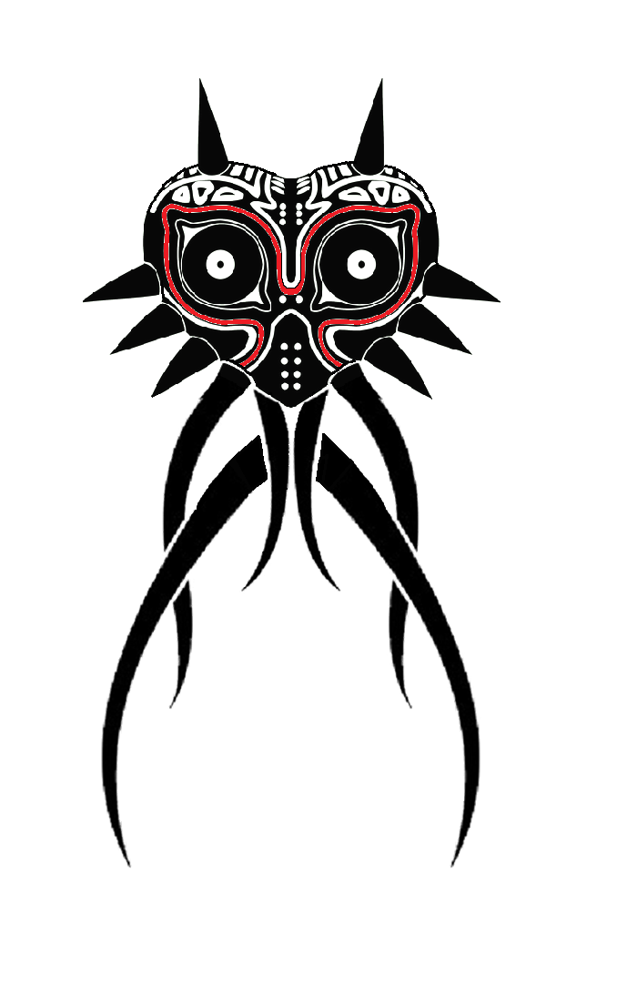 Very Cool Majora S Mask Tattoo Zelda Tattoo Zelda Art Mask Drawing