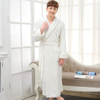 Hot Selling Women Super Soft Winter Warm Long Bath Robe Lovers Kimono  Bathrobe Men Dressing Gown Bride Wedding Bridesmaid Robes 372dd10af