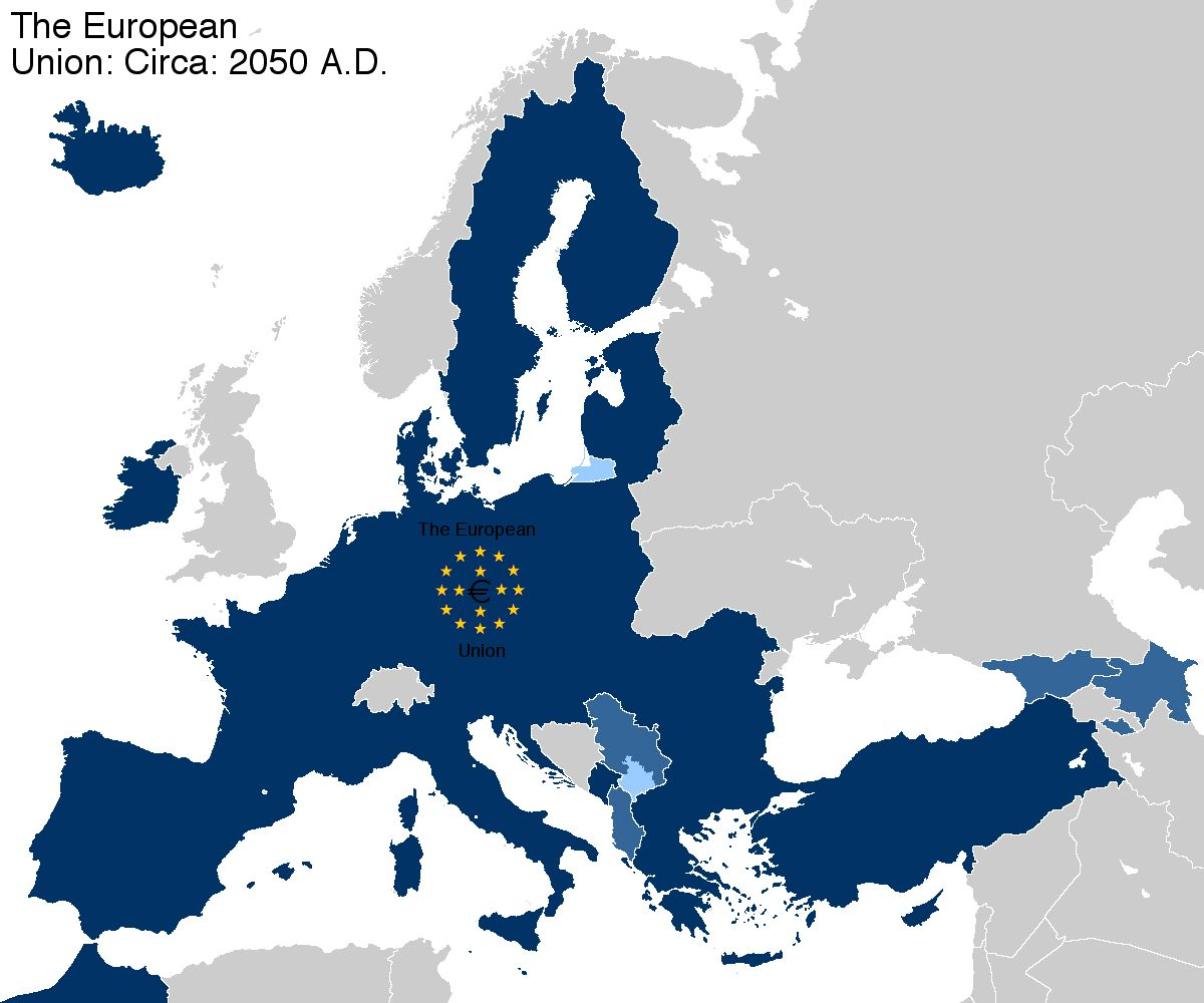 Future Ef 2050 United States Of Europe Pinterest Map United