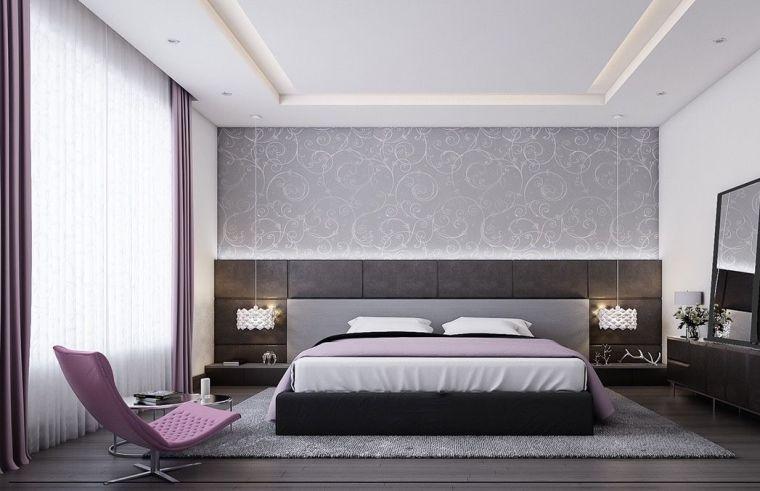 Couleur chambre design  42 espaces dominés par le gris Headboard - couleur de la chambre
