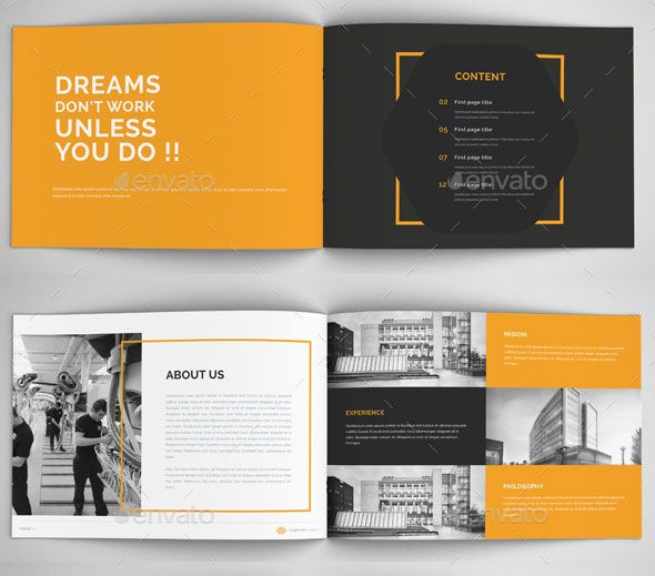 30 Awesome Company Profile Design Templates | Design Love <3