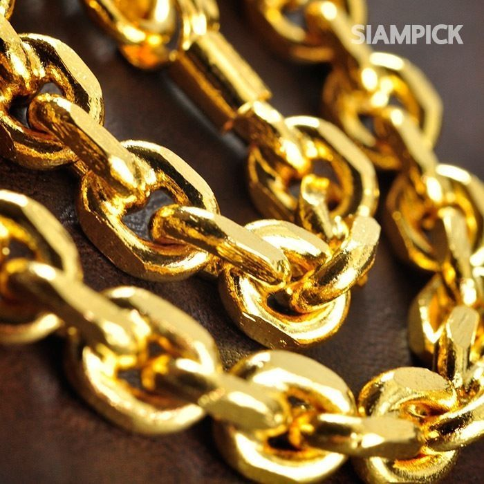 24 Inches Thai 24k Yellow Gold Baht Plated Heavy Hip Hop Chain