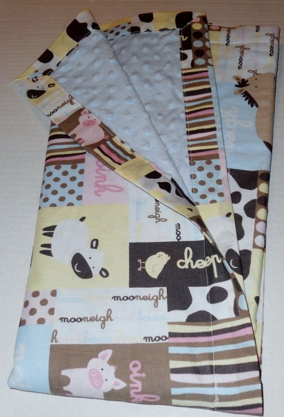 Barnyard Babies Baby Minky Blanket