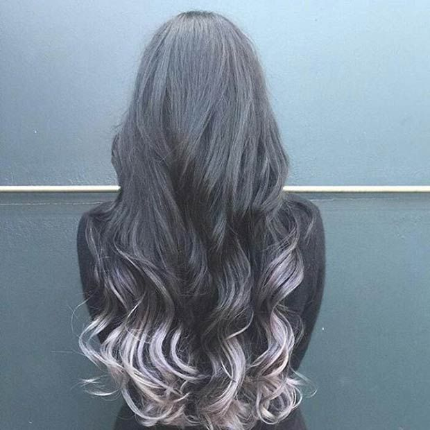 21 Stunning Grey Hair Color Ideas And Styles Silver Dip Dip Dyed