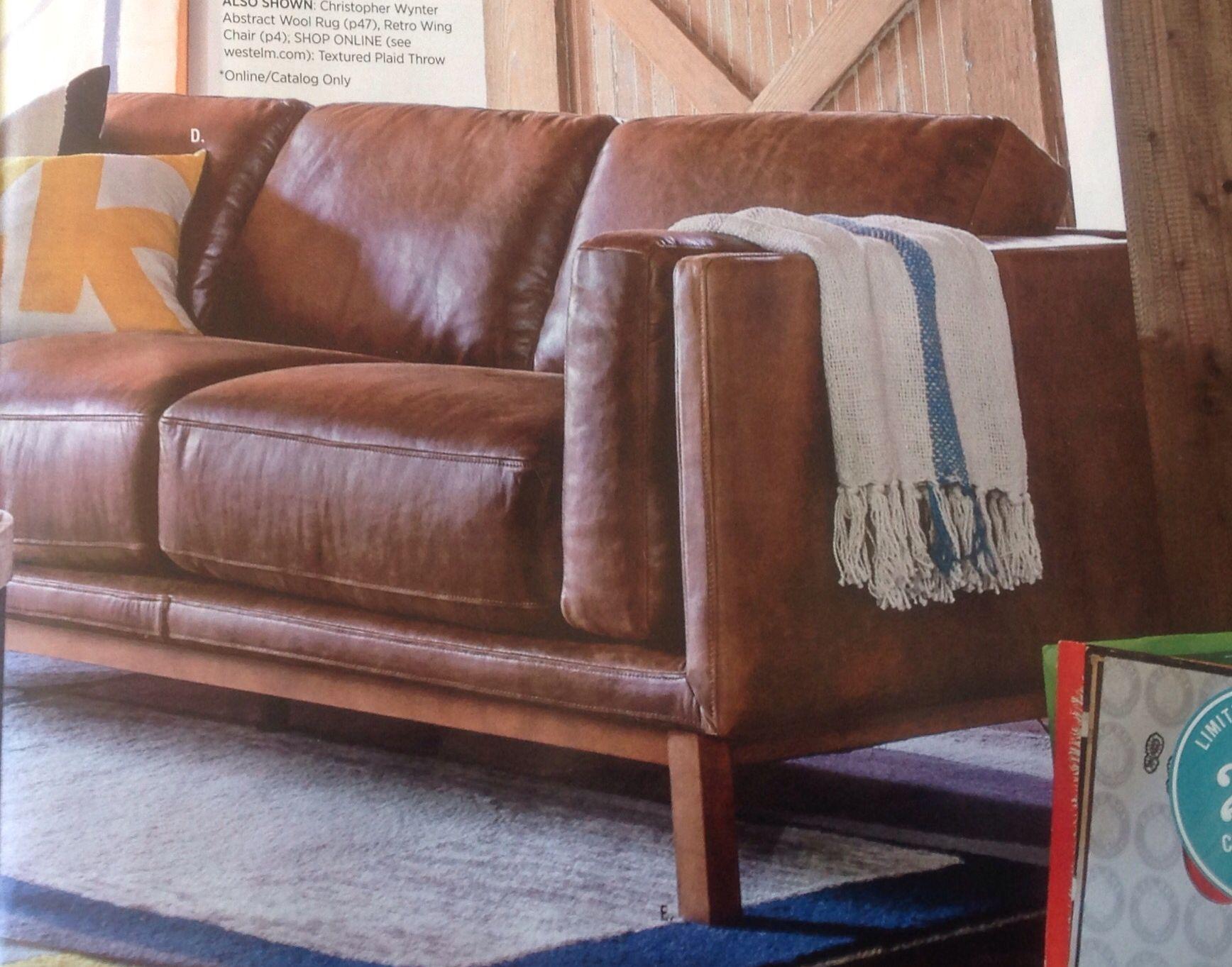 West Elm Dekalb Leather Collection Grand Sofa Villa