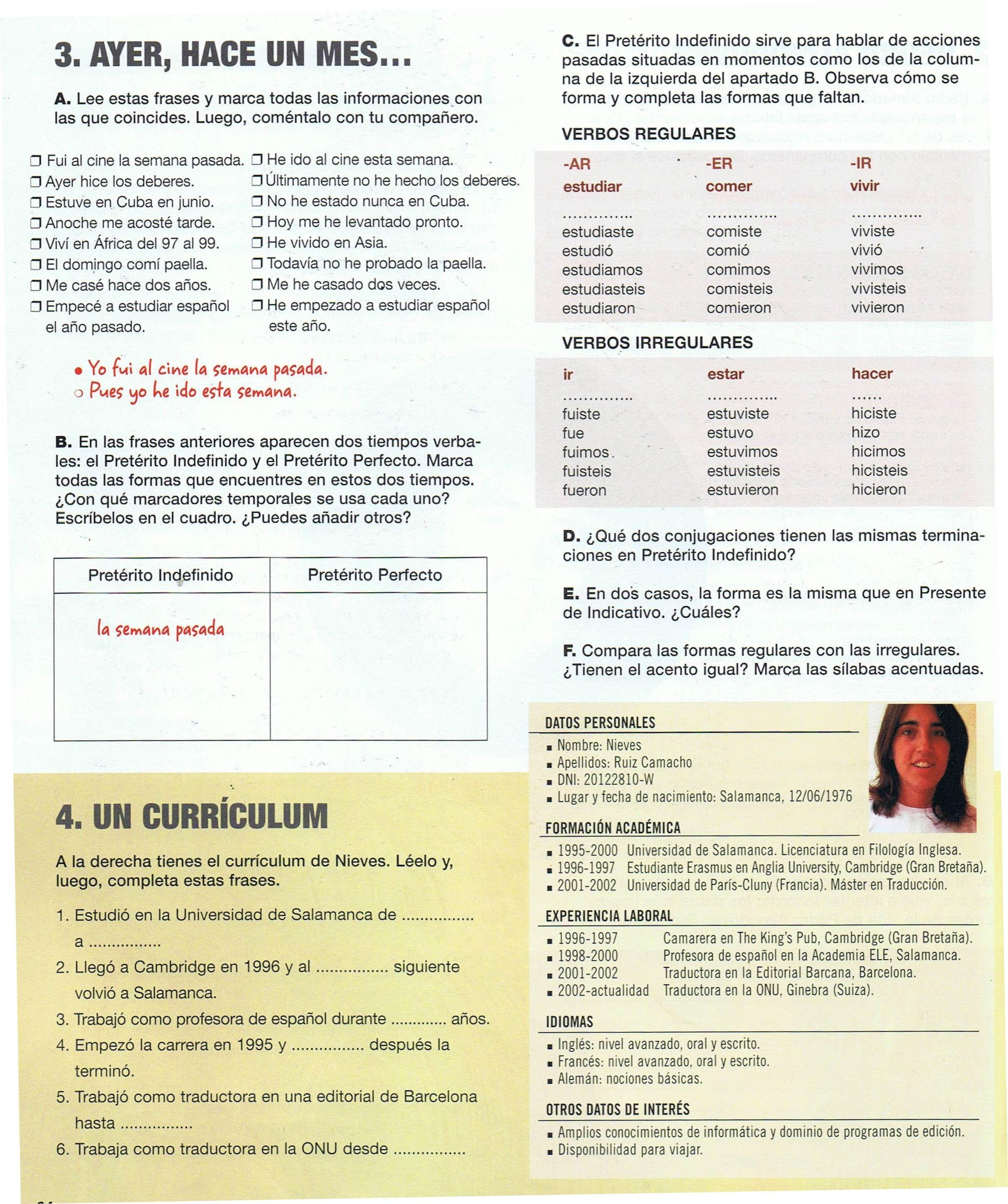 Modelo de CV+pasado indefinido | Profesiones y Trabajo | Pinterest ...