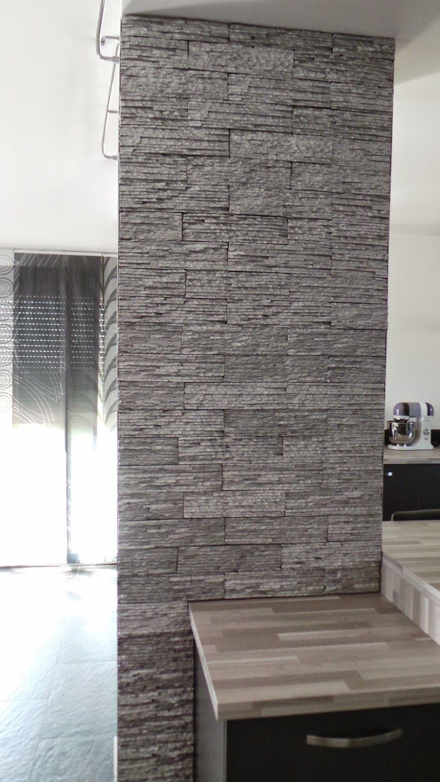relooker un pilier un mur pinterest pilier plaquette de parement et parement. Black Bedroom Furniture Sets. Home Design Ideas