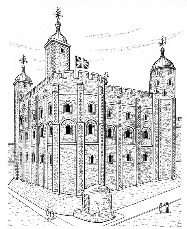 Tower Of London Colouring Page Link Goes To Site With Several Other Higher Quality Castle Sheets