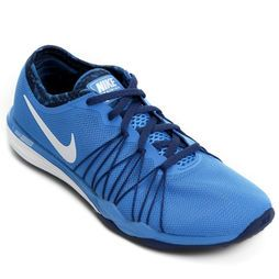 Tênis Nike Dual Fusion Hit Print Training - Azul+Branco