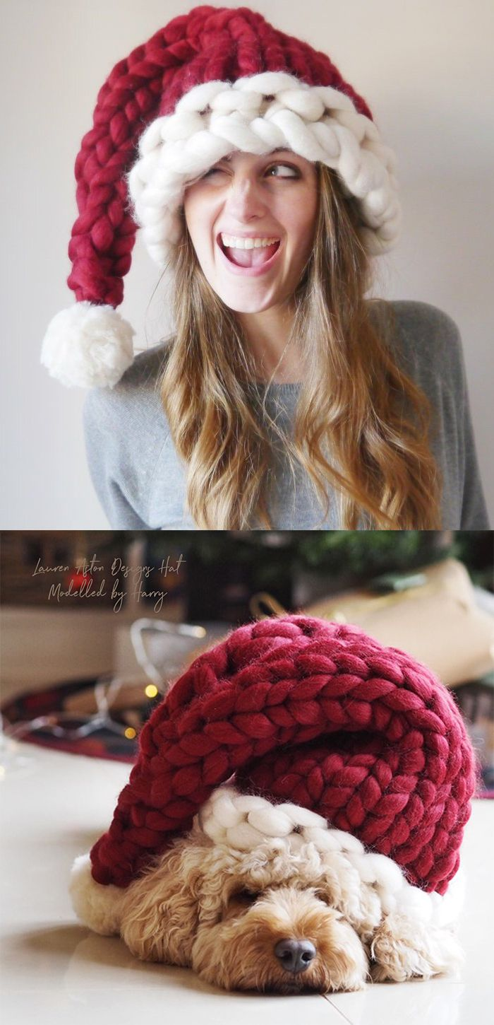 The Chunky knitted Santa Hat! This fun and festive hand