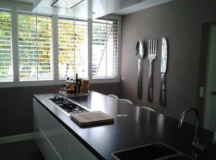 Groot Bestek Voor Aan Muur.Kei Leuk Dat Bestek Aan De Muur Keuken Table Room En Decor