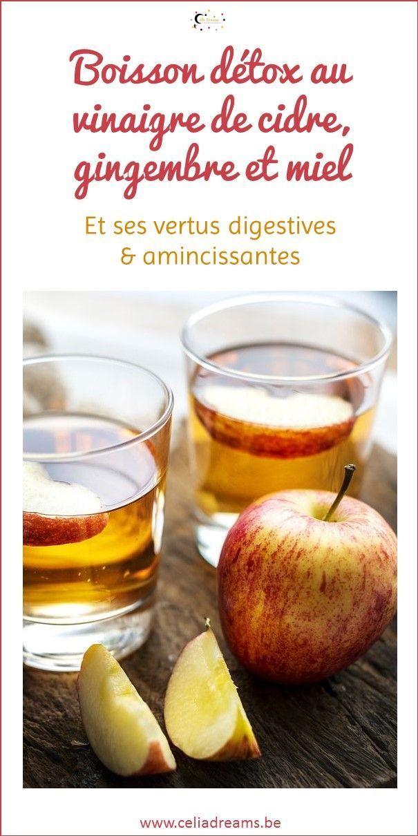 Boisson détox au vinaigre de cidre, gingembre et miel