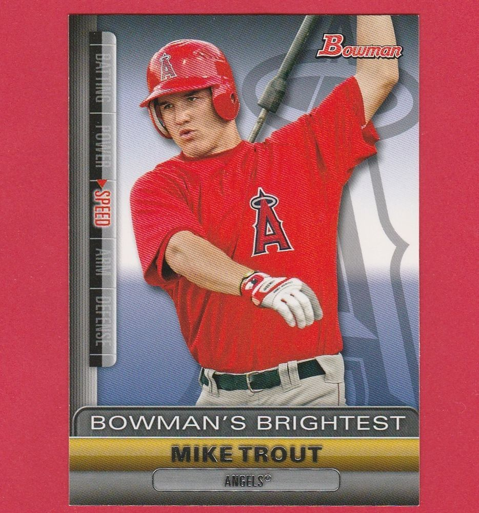 2011 bowman bowmans brightest mike trout bbr6 insert rc
