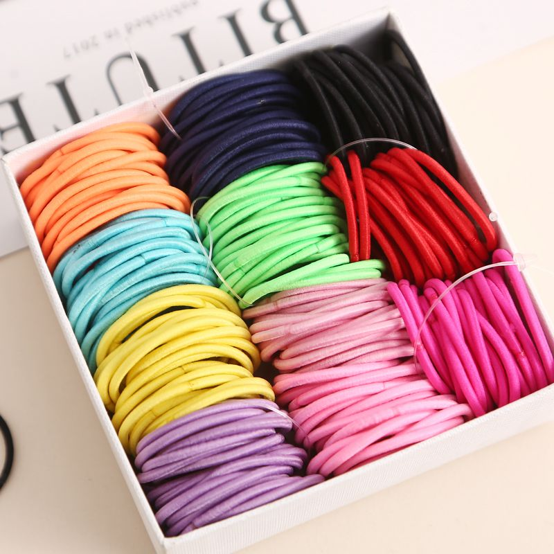 Kid Girl Elastic Rope Hair Ties Ponytail Holder Rubber Band Hairband Multicolor