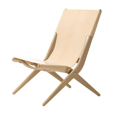 Delicieux Folding Lounge Chair!!     By Lassen   Saxe, Oak # Natural Leather  (Available 1st April) (also In Black)