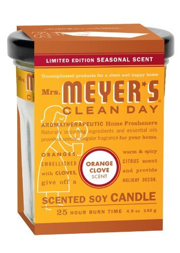 Mrs. Meyers Clean Day Candle - Orange Clove , 4.90-Ounce (Pack of 2) Mrs. Meyers Clean Day,http://www.amazon.com/dp/B0043OUJ5U/ref=cm_sw_r_pi_dp_WPPYsb1BVBM9G70B I love the fresh scent!
