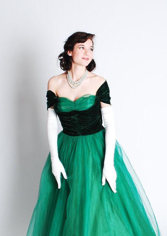 1940s Vintage Prom Dresses