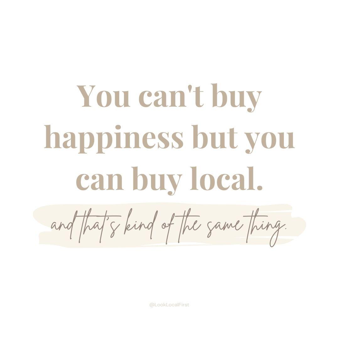 Shop Small Quote Graphic - Support Loca