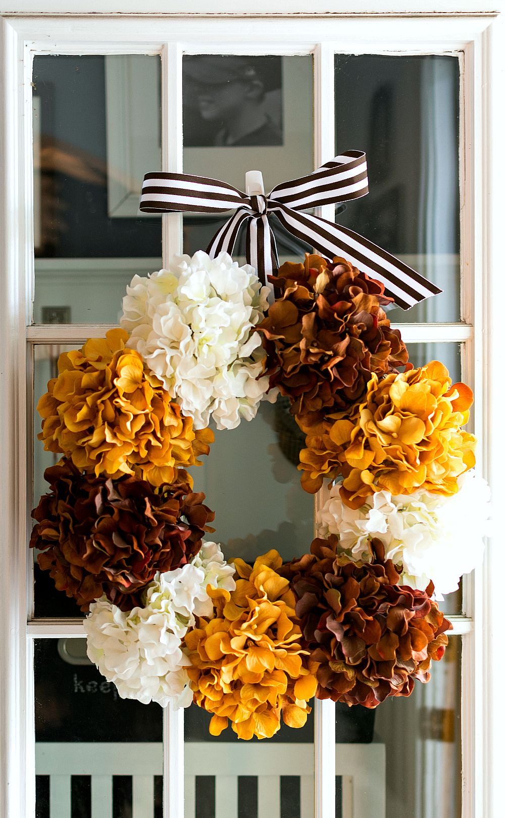 fall decoration ideas diy hydrangea wreath for fall on favorite diy fall decorating ideas add life to your home id=37995
