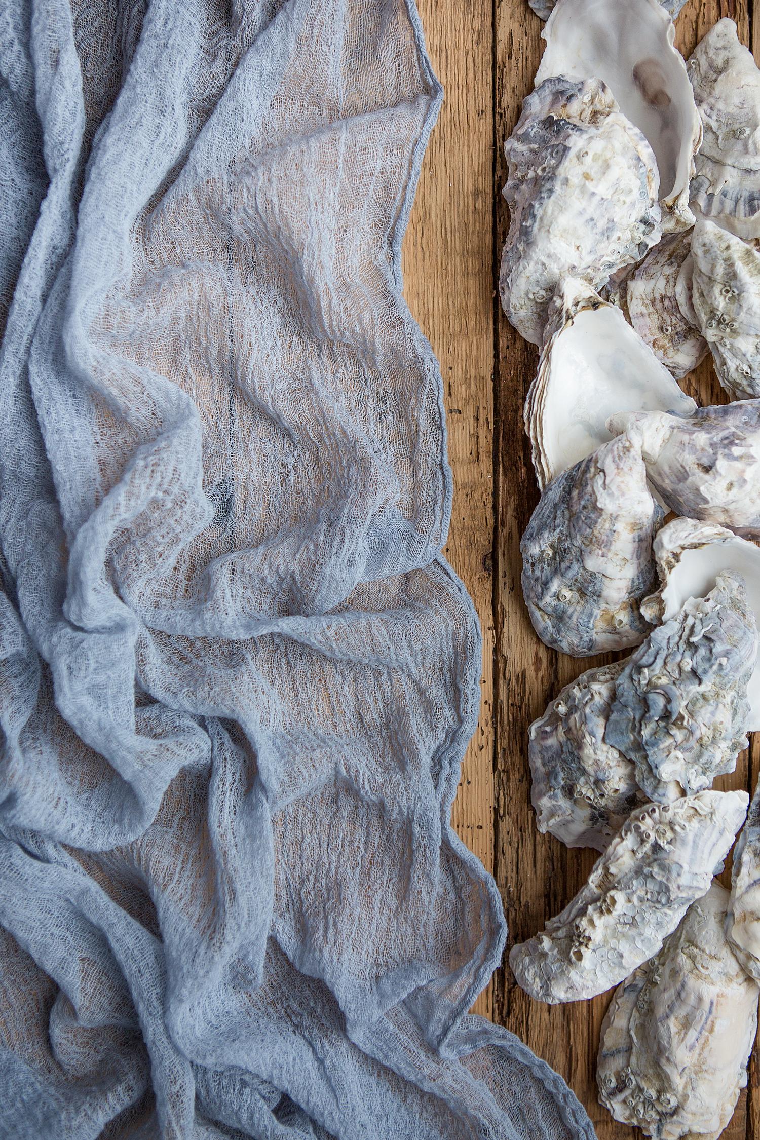Blue wedding decor ideas  Dusty Blue Gauze runner Centerpiece Cheesecloth runner Rustic