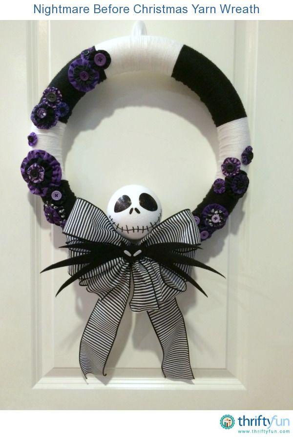 Making a Nightmare Before Christmas Yarn Wreath | Wreaths ...