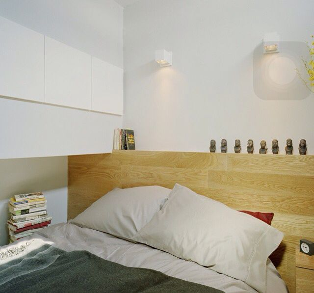 Simple bedroom interior for a small space