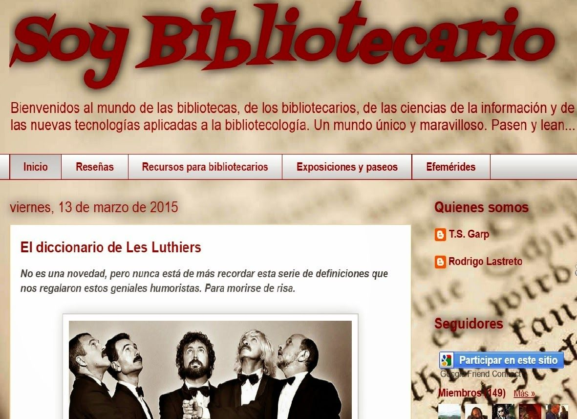 Un Año De Soy Bibliotecario Bibliotecaria Ciencias De La Información Tecnologia Aplicada